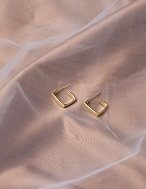 Fashion Gold Geometric Square Alloy 24k Gold Earrings