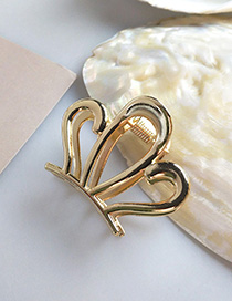 Fashion Gold Large Alloy Gripper Hair Claw