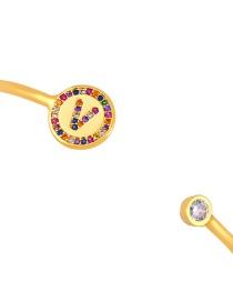 Fashion V Gold Letter Diamond Bracelet