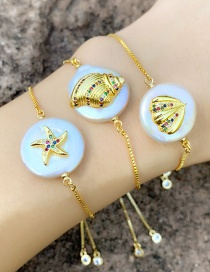 Fashion Starfish Gold Natural Pearl Bracelet