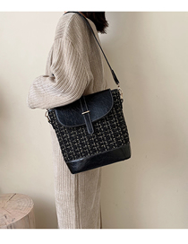 Fashion Black Contrast Shoulder Shoulder Bag