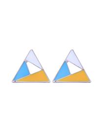 Fashion Yellow Hollow Geometric Earrings