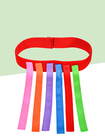 Fashion Red Tie + 6 Tails Tail Tail Straps For Children's Toys