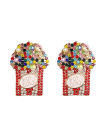 Fashion Color Popcorn Cup Earrings