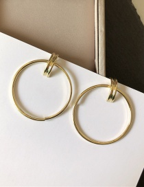 Fashion Large Circle Ring Thick With Hoops Earrings