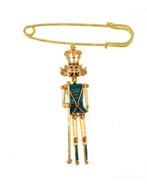 Fashion Gold Little Man Brooch
