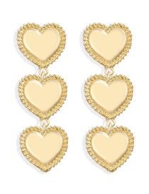 Fashion Gold Alloy Heart-shaped Tassel Earrings