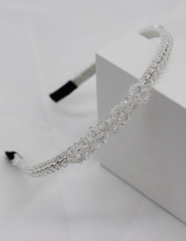 Fashion White Crystal Woven Headband