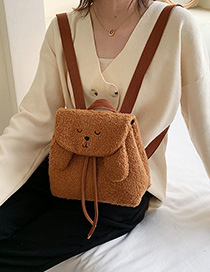 Fashion Brown Bear Plush Backpack