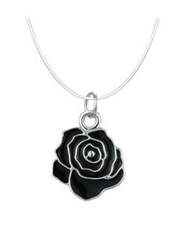 Fashion Flower Rose Mermaid Teardrop Invisible Necklace