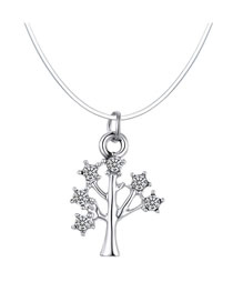 Fashion Tree Happiness Tree Zircon Invisible Necklace