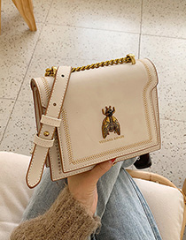 Fashion White Bee Chain Shoulder Messenger Bag
