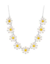 Fashion Silver Small Daisy Necklace