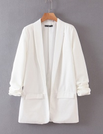 Fashion White Roll Sleeve Suit