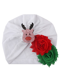 Fashion White Shabby Flower Bonding Cartoon Children's Headgear