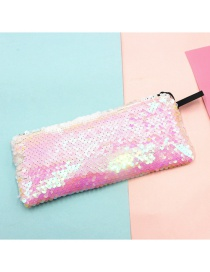 Fashion Pink Mermaid Two-color Sequin Pencil Case
