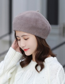 Fashion Dark Gray Plush Beret