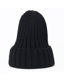 Fashion Black Knitted Woolen Pointed Hat