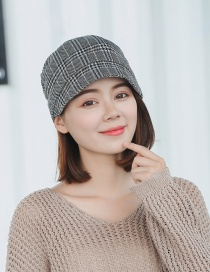 Fashion Gray Double-layer Lattice Head Cap