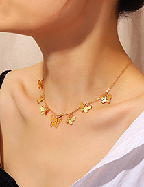 Fashion Gold Butterfly Necklace