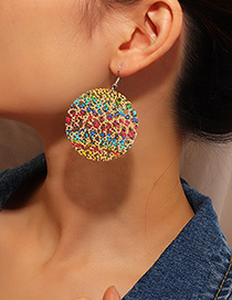 Fashion Color Painted Painted Hollow Earrings