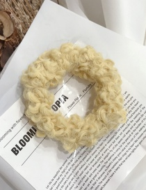 Fashion Yellow Lamb Plush High Elastic Without Trace Hair Ring
