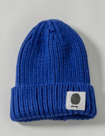 Fashion Royal Blue Patch Wool Cap Children (48-52)