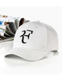 Fashion Letter F-white Embroidered Letter Cartoon Baseball Cap