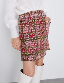 Fashion Color Knit Mini Skirt