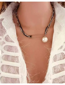 Fashion Gun Black Double Necklace
