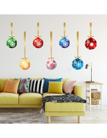 Fashion Color Colorful Christmas Ball Wall Sticker