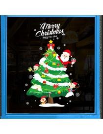 Adhesivo De Pared Santa Claus Árbol De Navidad