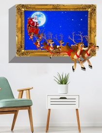 Fashion Color 3d Three-dimensional Christmas Deer Fake Window Wall Sticker