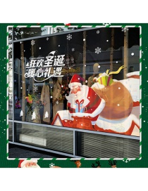 Fashion Color Santa Claus Gives Gifts Double-sided Wall Stickers