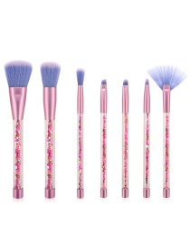 Fashion Purple 7 Sticks Of Granules With Plastic Handle Sequins