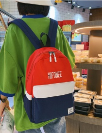 Fashion Red Contrast Stitching Children's Backpack