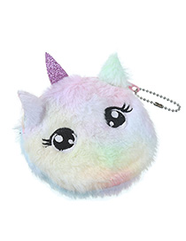 Fashion Big Eyes Color Cartoon Cat Plush Purse