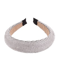Fashion White K Alloy Rhinestone Headband