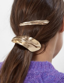 Fashion Gold Alloy Leaf Hairpin