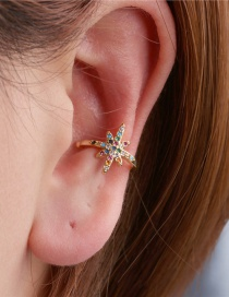 Fashion Gold Meteor Sparkling C-shaped Earrings