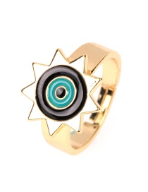 Fashion Black Drip Eye Opening Ring