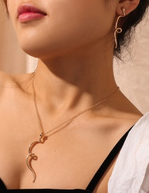 Fashion Gold Metal Snake Earrings Necklace Set