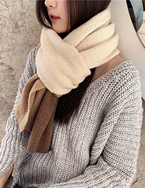 Fashion Rice Fight Knitted Long Wool Scarf