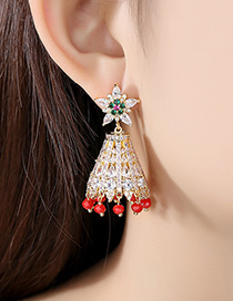 Fashion 18k Wind Chimes Tassel Earrings