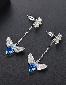 Fashion Blue Bee Stud Earring