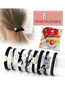 Fashion 8 Packs In Bags Small Hair Ring 8 Piece Set