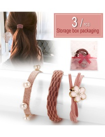 Fashion Bird Bag 3 Pieces Flower Hair Ring 3 Piece Set
