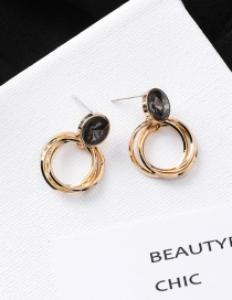 Fashion Gold 925 Silver Needle Silver Needle Multi-layer Circle Geometric Earrings