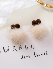 Fashion Love Short Hairball Love Earrings