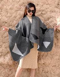 Fashion Gray Cashmere Cloak Cape Cloak